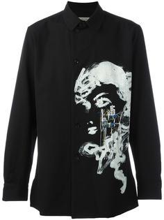 рубашка с принтом Yohji Yamamoto