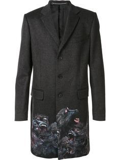 однобортное пальто 'Monkey Brothers' Givenchy