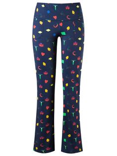 print flared trousers Isolda