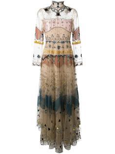 декорированное вечернее платье Valentino