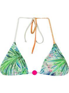 foliage print triangle bikini top Lygia & Nanny