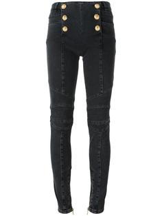 брюки с декоративными пуговицами Balmain