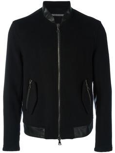куртка-бомбер с контрастной окантовкой John Varvatos