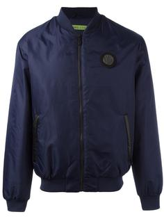 logo patch bomber jacket Versace Jeans
