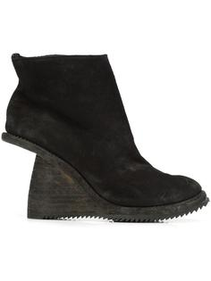 asymmetric heel ankle boots Guidi