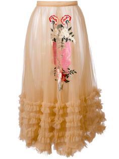 прозрачная юбка с рюшами Vivetta