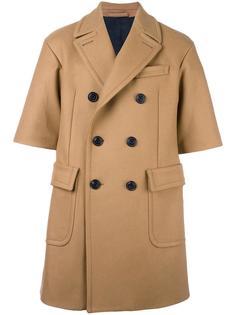 shortsleeved double-breasted coat Wooster + Lardini