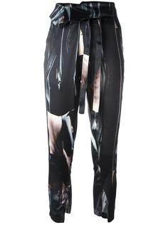 укороченные брюки с принтом Ann Demeulemeester