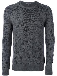 жаккардовый пуловер с леопардовым принтом John Varvatos