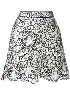 юбка с цветочным рисунком Self-Portrait