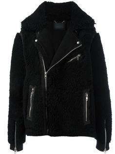 байкерская куртка с утолщенными лацканами Diesel Black Gold