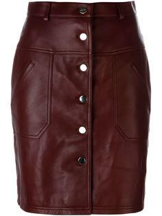 короткая юбка на кнопках Carven