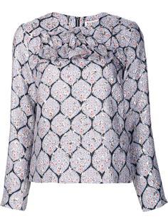 блузка с эффектом металлик Suno