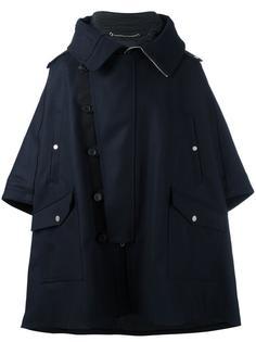 пальто свободного кроя со смещенной застежкой Diesel Black Gold