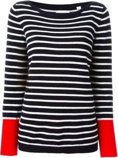 полосатый свитер с контрастными манжетами Chinti And Parker