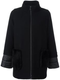 high neck zipped coat Fay