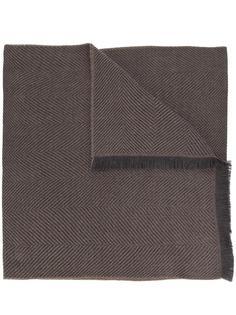 herringbone fringed scarf Simeone Napoli