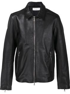 кожаная куртка на молнии Officine Generale