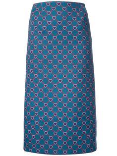 heart print 'Sigma' skirt Mary Katrantzou