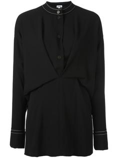 draped buttoned placket blouse Loewe