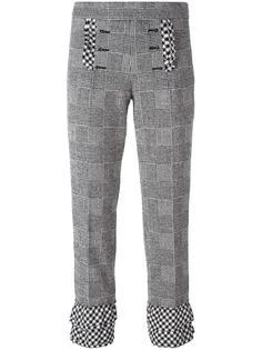glen plaid cropped trousers Rossella Jardini