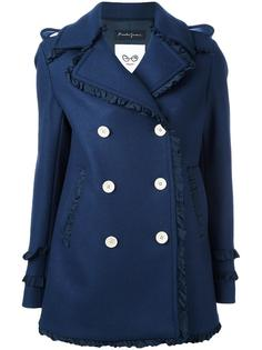 ruffled detailing coat Rossella Jardini