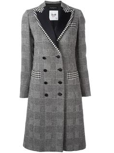 glen plaid buttoned coat Rossella Jardini