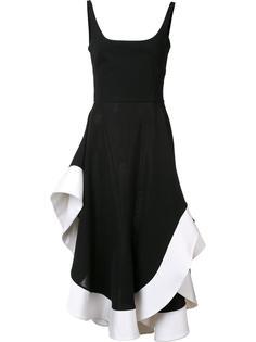 платье с контрастной окантовкой Esteban Cortazar