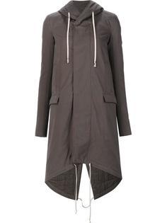 high low hem oversized coat Rick Owens DRKSHDW
