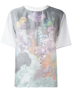 футболка с цветочным принтом Carven