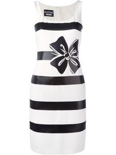 приталенной платье в полоску  Boutique Moschino
