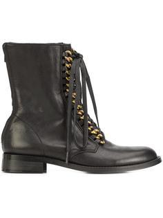 chain back zip boots Yohji Yamamoto