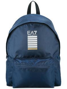 logo print zipped backpack Ea7 Emporio Armani