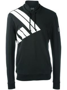 logo print pullover hoodie Ea7 Emporio Armani