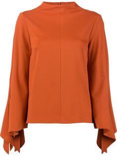 блузка с расклешенными длинными рукавами Tibi