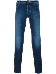 джинсы скинни с потертостями Jacob Cohen