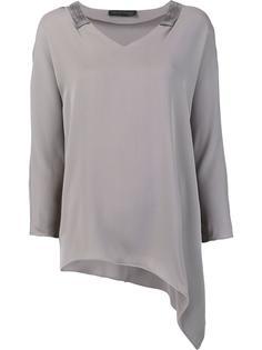 асимметричная блузка с V-образным вырезом Fabiana Filippi
