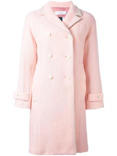 текстурированное двубортное пальто Facetasm
