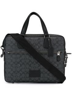 logo print shoulder bag  Coach