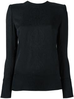 блузка с узором пейсли Balmain