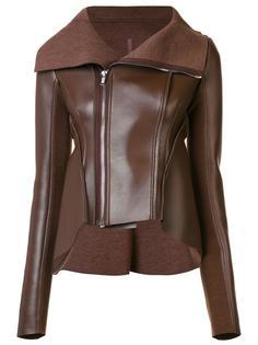 asymmetric zip up leather jacket Rick Owens Lilies
