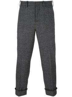 брюки с подвернутыми манжетами Neil Barrett