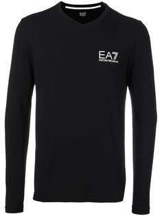 fine knit fitted sweatshirt Ea7 Emporio Armani