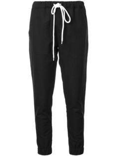 спортивные брюки с присборенными манжетами Bassike