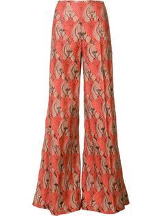 жаккардовые брюки палаццо Emilia Wickstead