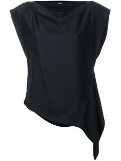 асимметричная креповая блузка  Bassike
