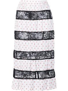 contrast lace stripe skirt Comme Des Garçons Tricot
