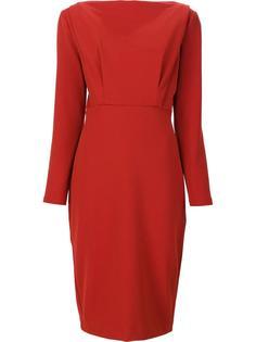 longsleeved fitted dress Badgley Mischka