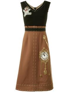 платье с заплаткой 'Wonderland' Dolce & Gabbana