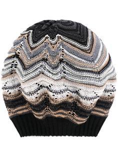 вязаная шапка-бини с узором зигзаг Missoni